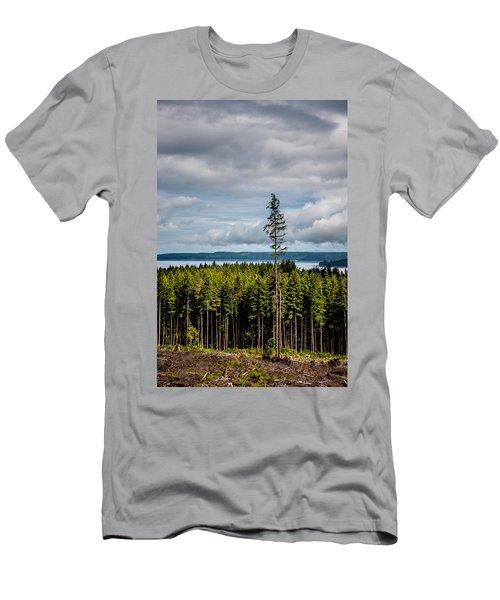 Logging Road Ocean View  Men's T-Shirt (Athletic Fit)