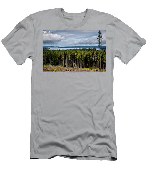 Logging Road Landscape Men's T-Shirt (Athletic Fit)