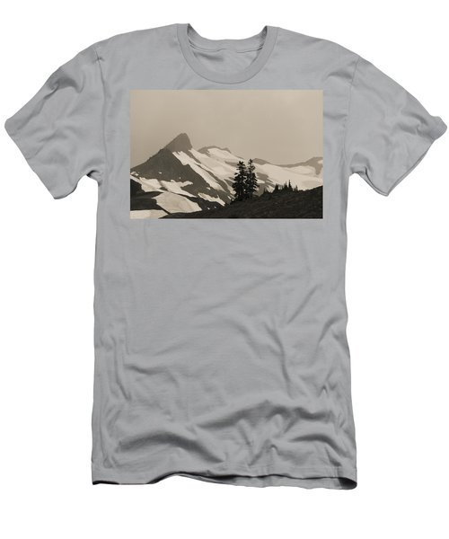 Fog In Mountains Men's T-Shirt (Athletic Fit)