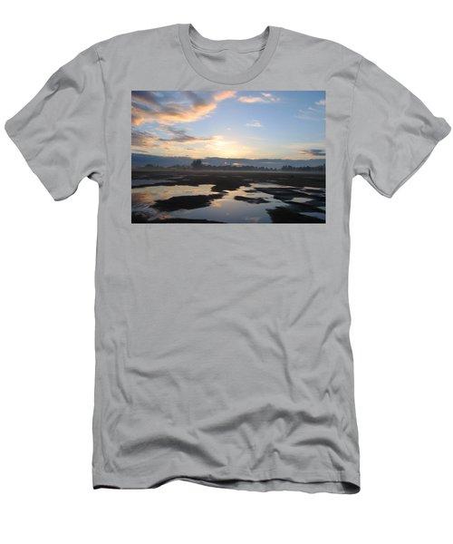 Men's T-Shirt (Slim Fit) featuring the photograph Bakersfield Sunrise by Meghan at FireBonnet Art