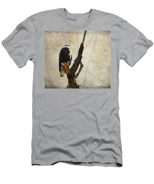 Bald Eagle Keeping Watch In Illinois Men's T-Shirt (Athletic Fit)