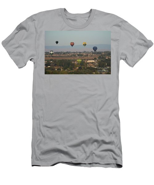 Balloons Over The Valley Men's T-Shirt (Athletic Fit)
