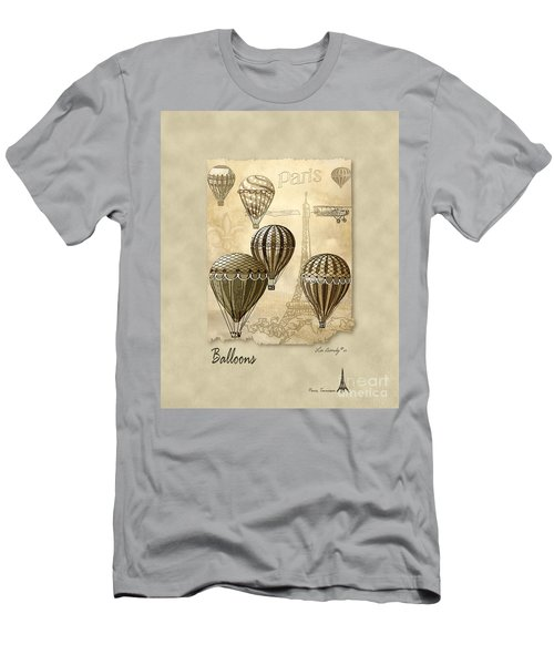 Balloons With Sepia Men's T-Shirt (Athletic Fit)