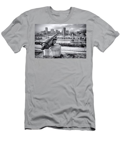 Baltimore Inner Harbor Skyline Men's T-Shirt (Athletic Fit)