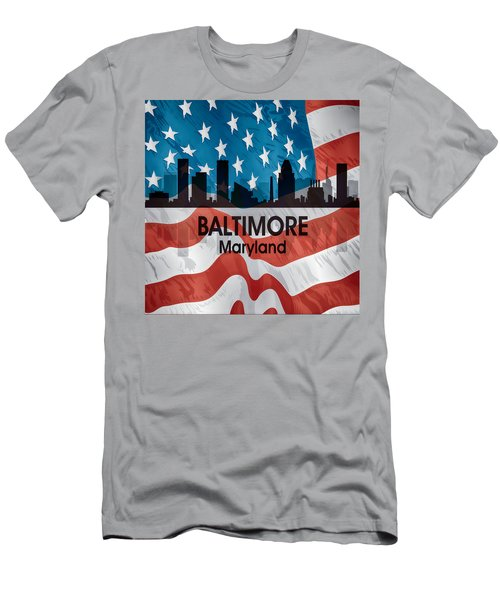 Baltimore Md American Flag Squared Men's T-Shirt (Athletic Fit)