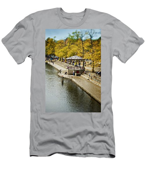 Bandstand In Chester Men's T-Shirt (Slim Fit) by Meirion Matthias
