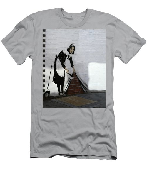 Banksy Maid Men's T-Shirt (Athletic Fit)