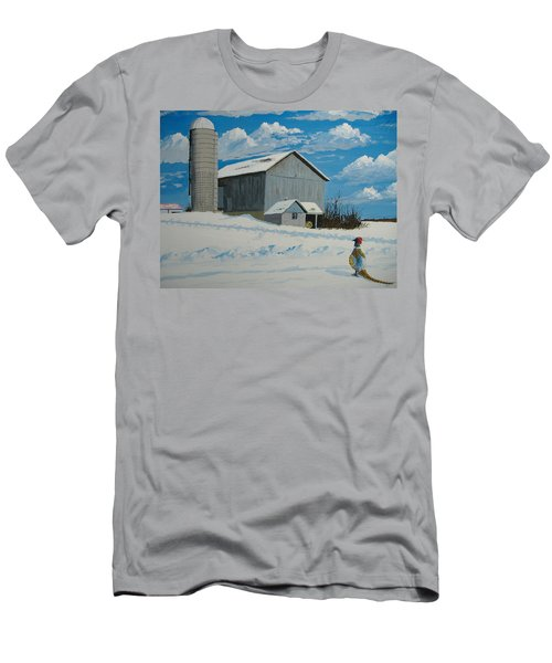 Barn And Pheasant Men's T-Shirt (Athletic Fit)