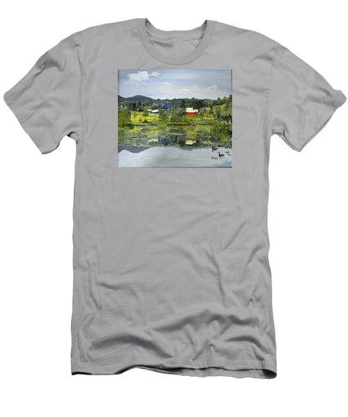 Barn At Little Elk Lake Men's T-Shirt (Athletic Fit)