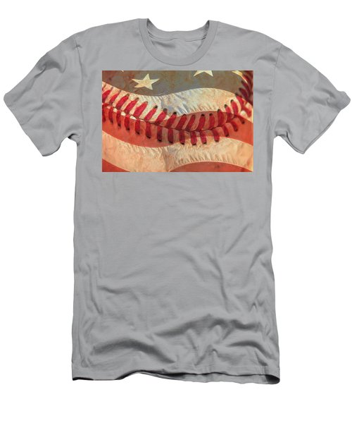 Baseball Is Sewn Into The Fabric Men's T-Shirt (Athletic Fit)