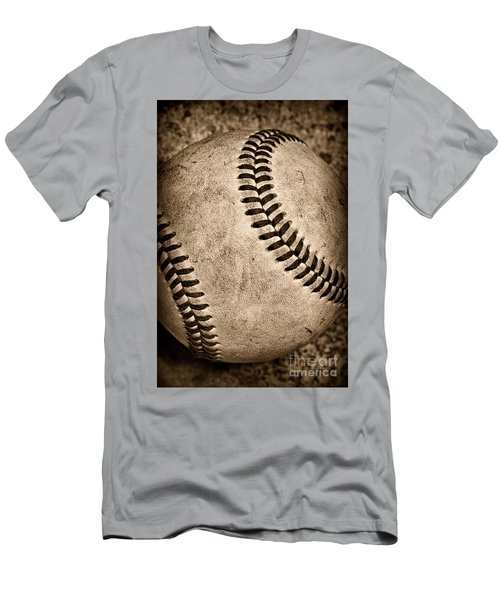Baseball Old And Worn Men's T-Shirt (Athletic Fit)