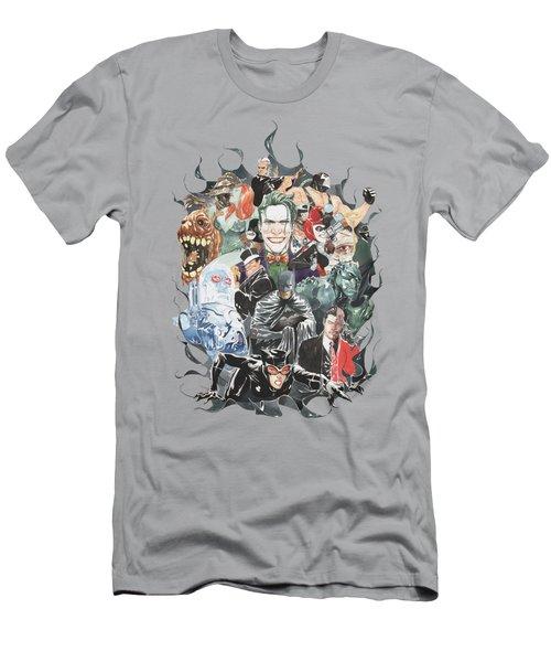 Batman - Cape Of Villians Men's T-Shirt (Athletic Fit)