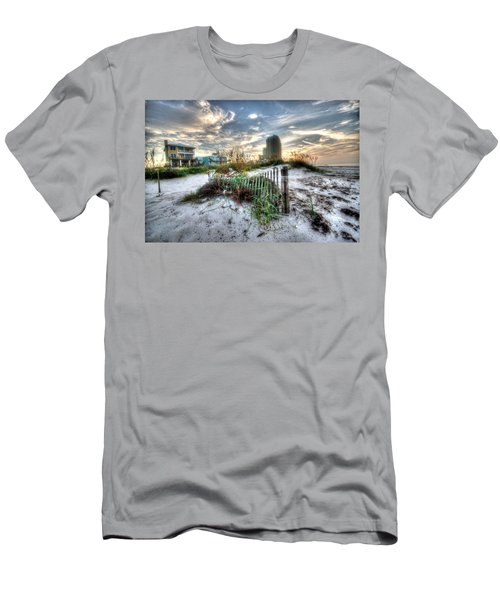 Beach And Buildings Men's T-Shirt (Athletic Fit)