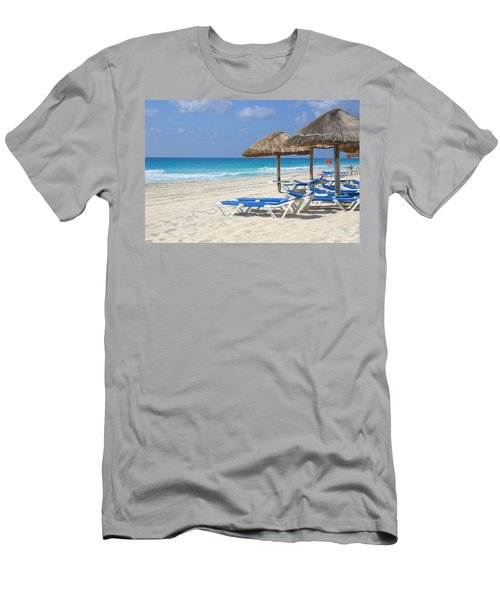 Beach Chairs In Cancun Men's T-Shirt (Athletic Fit)