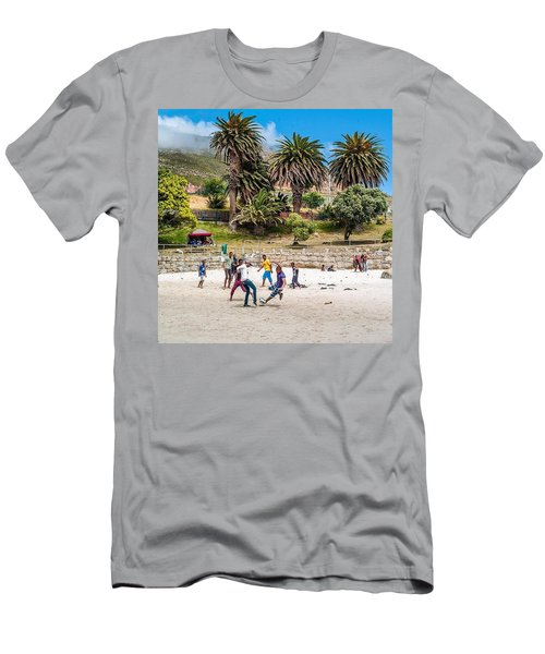 Beach Football In South Africa Men's T-Shirt (Athletic Fit)