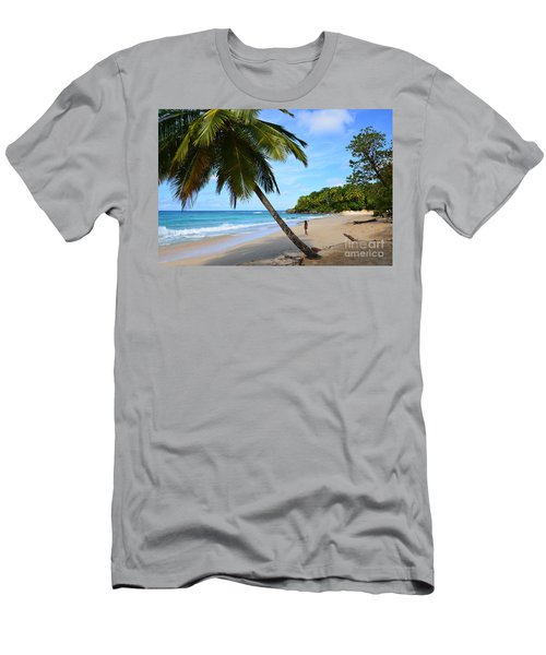 Beach In Dominican Republic Men's T-Shirt (Athletic Fit)