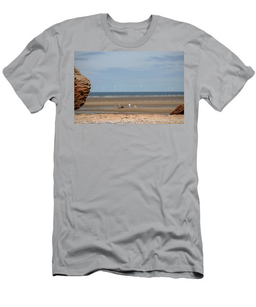 Beach Men's T-Shirt (Slim Fit) by Spikey Mouse Photography