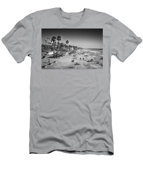 Men's T-Shirt (Athletic Fit) featuring the photograph Beach Life From Yesteryear by John Wadleigh