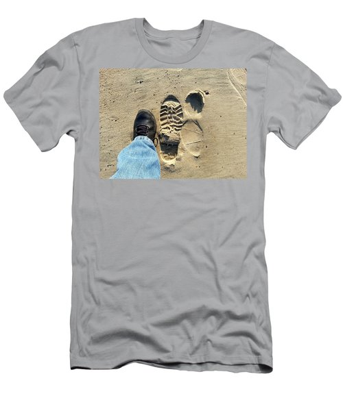 Beach Of Big Feet Men's T-Shirt (Athletic Fit)