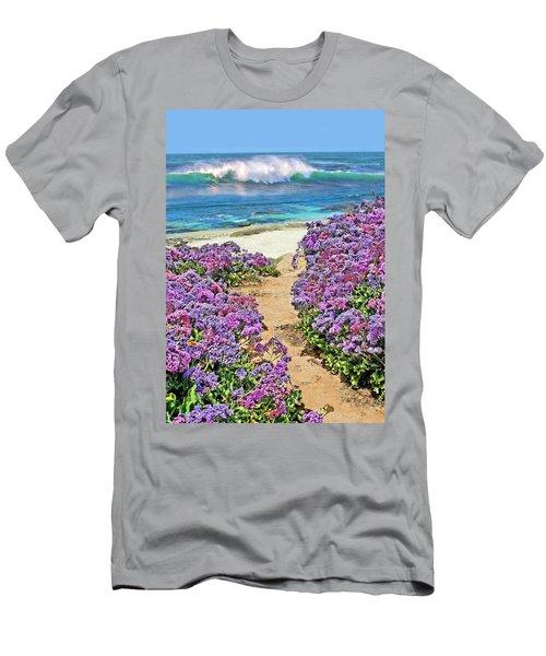 Beach Pathway Men's T-Shirt (Athletic Fit)