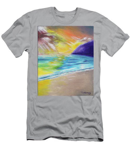 Men's T-Shirt (Athletic Fit) featuring the painting Beach Reflection by Thomas J Herring