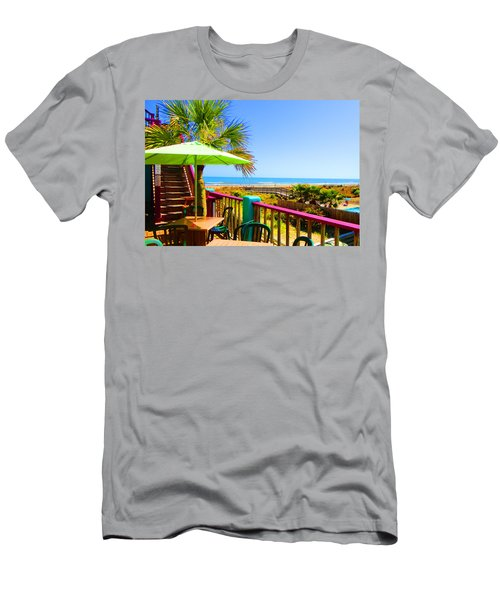 Beach View Of The Ocean By Jan Marvin Studios Men's T-Shirt (Athletic Fit)