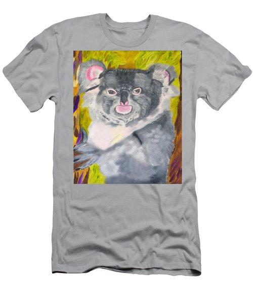 Koala Hug Men's T-Shirt (Slim Fit) by Meryl Goudey
