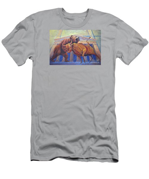 Bear Vs Bull Men's T-Shirt (Slim Fit) by Rob Corsetti