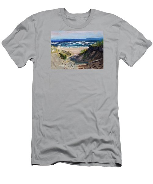 Bearberry Hill Truro Men's T-Shirt (Slim Fit) by Michael Helfen