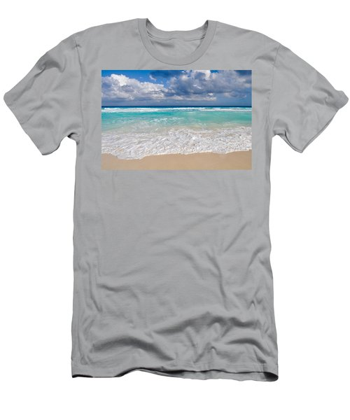 Beautiful Beach Ocean In Cancun Mexico Men's T-Shirt (Athletic Fit)