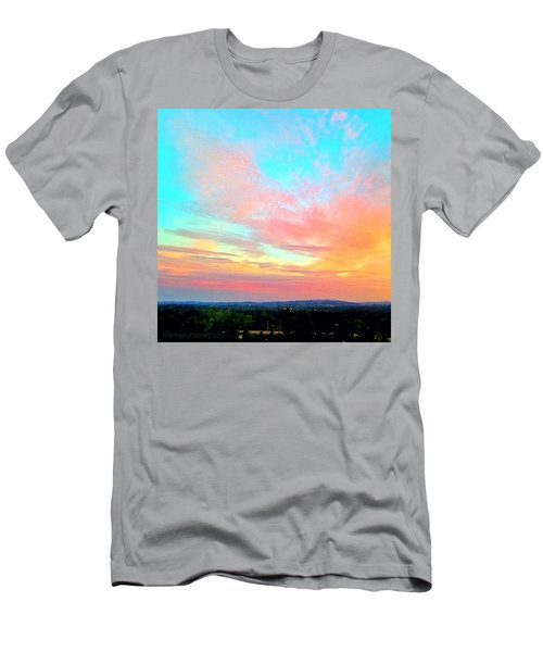 Beautiful Sunset This Evening From 9 Men's T-Shirt (Athletic Fit)