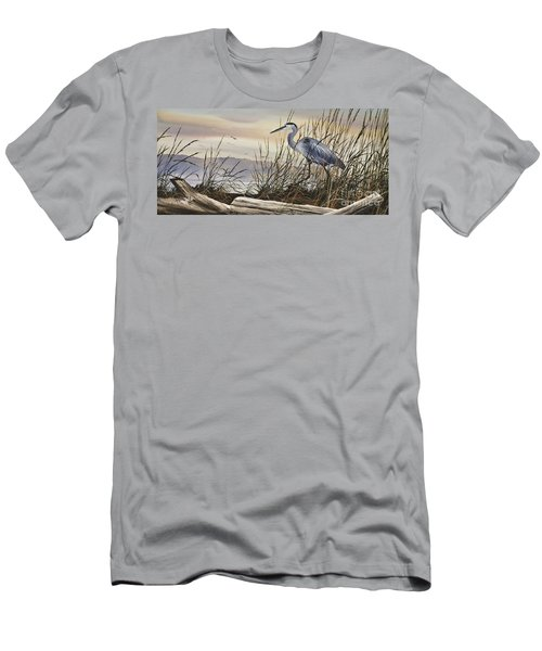 Beauty Along The Shore Men's T-Shirt (Slim Fit) by James Williamson