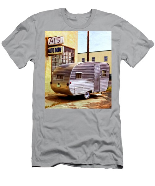 Becky's Vintage Travel Trailer Men's T-Shirt (Athletic Fit)