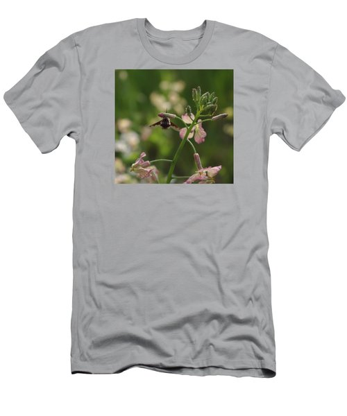 Men's T-Shirt (Slim Fit) featuring the photograph Pink Mustard Flower by Adria Trail