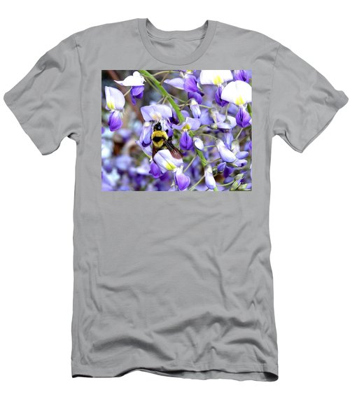 Bee In The Wisteria Men's T-Shirt (Athletic Fit)