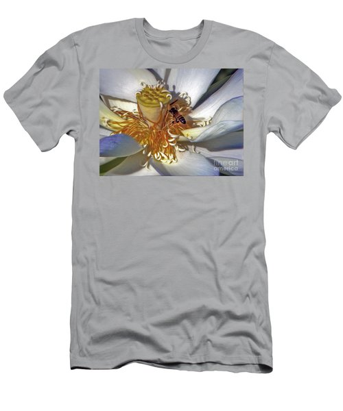 Bee On Lotus Men's T-Shirt (Athletic Fit)