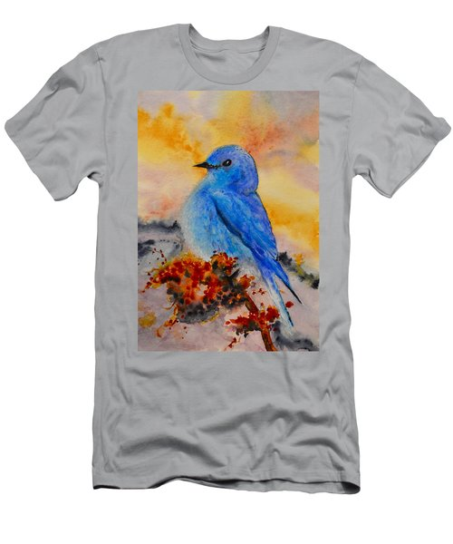 Men's T-Shirt (Slim Fit) featuring the painting Before The Song by Beverley Harper Tinsley