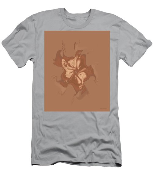 Beige Satin Morning Glory Men's T-Shirt (Athletic Fit)