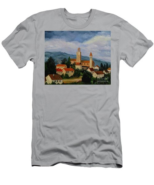 Bell Tower Of Vinci Men's T-Shirt (Slim Fit) by Julie Brugh Riffey