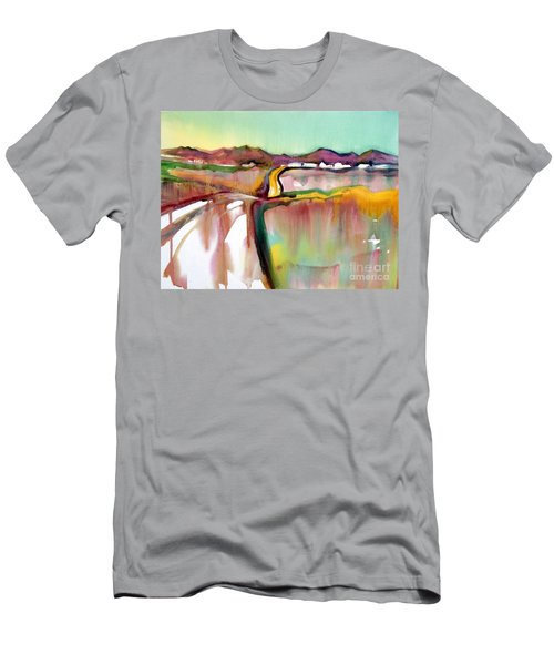 Men's T-Shirt (Slim Fit) featuring the painting Bethel Road by Teresa Ascone