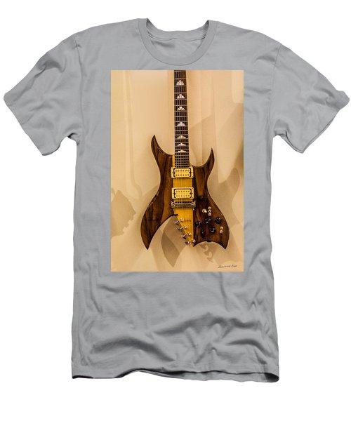 Bich Electric Guitar Colored Men's T-Shirt (Athletic Fit)