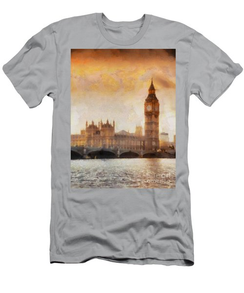 Big Ben At Dusk Men's T-Shirt (Athletic Fit)