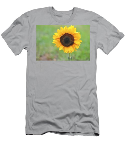 Big Bright Yellow Colorful Sunflower Art Print Men's T-Shirt (Athletic Fit)