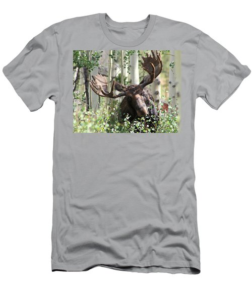 Big Daddy The Moose 3 Men's T-Shirt (Slim Fit) by Fiona Kennard