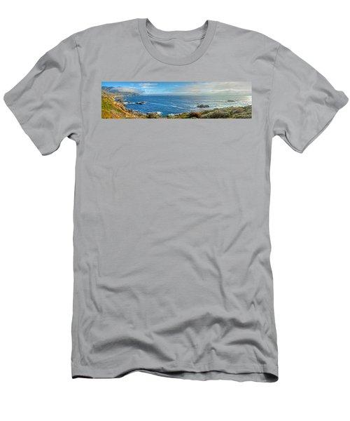 Big Sur Coast Pano 2 Men's T-Shirt (Athletic Fit)