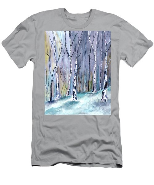 Birches In The Forest Men's T-Shirt (Athletic Fit)