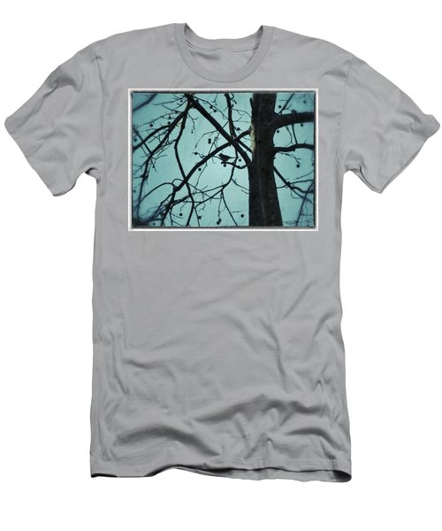 Men's T-Shirt (Slim Fit) featuring the photograph Bird In Tree by Tara Potts
