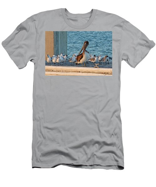 Birds - Among Friends Men's T-Shirt (Athletic Fit)