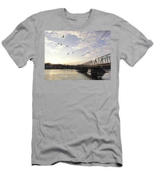 Birds And Bridges Men's T-Shirt (Athletic Fit)