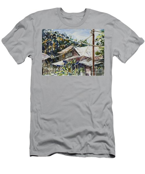 Men's T-Shirt (Slim Fit) featuring the painting Bird's Eye View by Xueling Zou